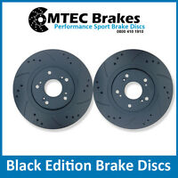 Ford Focus mk2 ST225 2.5 Rear MTEC Brake Discs Drilled Grooved in Black Edition