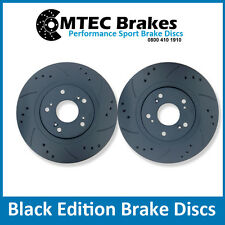 Ford Focus MK2 ST225 2.5 Trasero Mtec Discos De Freno Perforados Ranurado Negro