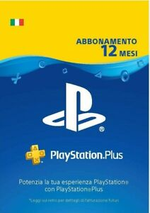 Abbonamento Playstation Plus (Ps+) 12 mesi - Italia - Codice Digitale