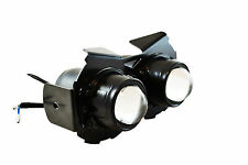Motorbike Projector Headlight 12V 55W For Cafe Racer Project Bike - Black Steel