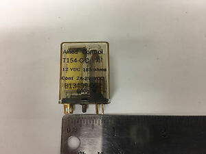 ALLIED CONTROL RELAY T154-C-C  12 VDC 185 ohms 2A-29