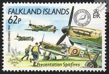 RAF No.92 Squadron Scrambles SPITFIRE Aircraft Mint Stamp (Falklands)