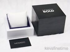Brand New Latest Version Movado BOLD Watch Box with Pillow Instruction Booklet