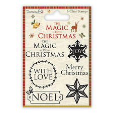Dovecraft The Magic of Christmas Sentiment Stamps for cards & craft