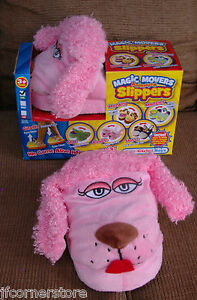 BNWT PINK POODLE ANIMATED SLIPPERS-MAGIC MOVERS-MOVING EARS CLEARANCE