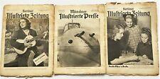 3x Historische Zeitschriften Berliner / Münchner Illustrierte Zeitung 1939/1941