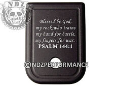For Glock Magazine 9mm 40 Plate BLK 17 19 22 23 26 27 34 35 Bible Psalm 144:1