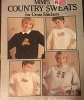Mimi's Country Sweats Waste Canvas Cross Stitch Pattern Leaflet