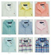 NWT Polo Ralph Lauren Mens Slim Fit Short Sleeve Button Down Oxford Shirt