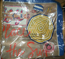 Juicy Couture Scarf A Place in the Sun Raw Silk NEW