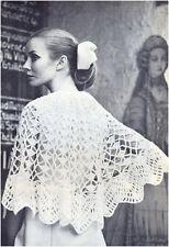 Da Donna Dk Openwork Pizzo Poncho Vintage Crochet Pattern 10097