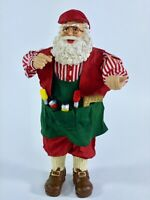 """Vintage Santa Claus Figure Hand Made Crafted Paper Mache 10.5"""" Christmas Decor"""
