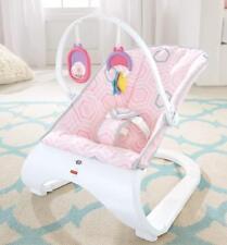 Baby Bouncer Pink Chair Rocker Toys Vibration Swing Unisex Boy Girl  Recline New