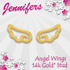 Gold Angel Wings Earrings Stud 14ct* Cute Small Studs Earring Jewellery Jewelry