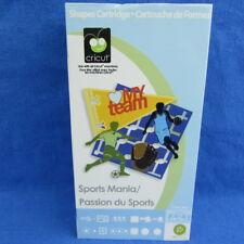 Cricut Sports Mania Cartridge Football Soccer Basketball Hockey Golf Tennis Swim
