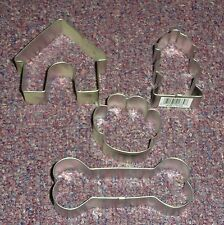 Dog,Puppy,Canine Cookie Cutter Specialty Set,OTBP.Silvertone, Metal 4 Pc.Set
