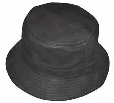 487b2aefeff KB Men s Leather Feel Polyester Bucket Hat Charcoal Gray