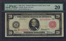 "1914 $20  FRN  ""NEW YORK""  FR-953b  ♚♚RED-SEAL♚♚   127 KNOWN!!! PMG VF 20"