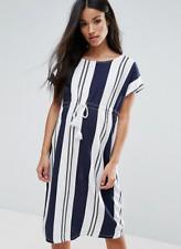 Mamalicious Black & White Stripe Woven Maternity Beach Dress Size M - UK 10