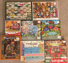 8 Box Lot Jigsaw Puzzles 1000 Pieces Hallmark~White Mountain~Springbok Photos