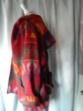 RALPH LAUREN VTG  COUNTRY AUTHENTIC  SOUTH WEST INDIAN  WOOL BLANKET COAT JACKET