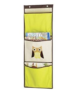 Whitmor Kid's Canvas Over-the-Door Wall Organizer Brown Owl