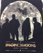 Imagine Dragons Night Visions 2013 Tour T Shirt Xl Black