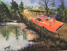 """Hazzard Swimming Hole"" 2017 James Best Dukes of Hazzard Art Print - RE-RELEASE"