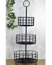 3 Tier Metal Kitchen Wire Fruit Vegetable Basket Bowl Rack Stand Storage Unit