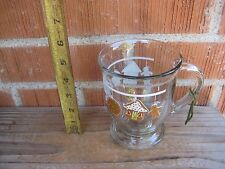 Vintage *** CHRISTMAS ORNAMENT *** Large Anchor Hocking Glass Pedestal Mug USA