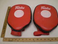 Fairtex Martial Arts Mitt Shield Black Red Muay Thai Kick Boxing MMA Target Pads
