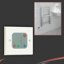 White Thermostatic Wall Controller for use with Electric Heating Elements