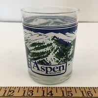 Vintage Aspen Mountain  Souvenir Glass Highball Glass - Ski Slope Map Colorado
