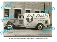 OLD LARGE PHOTO OF STEELO CLEANING TRUCK c1940 NSW