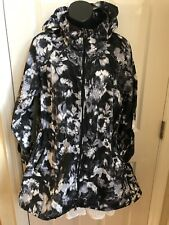Velocity Water Repellent Trench Coat Zipped Hooded Sz M NWT