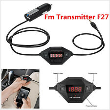 Wireless FM Transmitter Car Kit 3.5mm AUX Audio Stereo Adapter With USB Charger