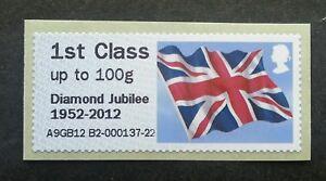 Britain Diamond Jubilee 2012 Flag Post & Go (stamp MNH *1st class *self adhesive