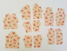 Vintage Pink Scrap Floral Fabric Doll Top Pattern Remnant Sewing Salvage Lot A36