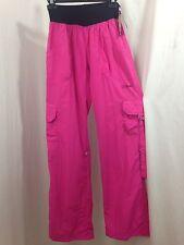 "ZUMBA Wear ""Simply Shine"" Berry Pink Cargo Pants Workout Exercise Samba Dance M"