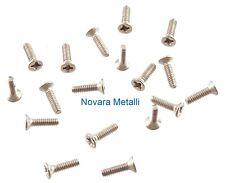 100 viti inox M1,6x6 testa svasata croce microviti  micro vis tornillos screws