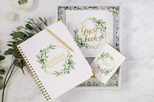 Wedding Planner Gift Set Floral Gold - Engagement Gift - Undated Bridal Planning