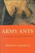 Army Ants: The Biology of Social Predation William Gotwald Book Cornell Series