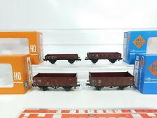bj63-0,5 #4x ROCO H0 / DC Vagón de mercancía DB : 4314 +4309 +4303 A+ 4307