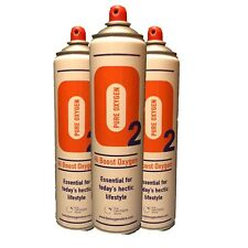 3 X Pure Oxygen 10 Litre cans, Portable Oxygen Cylinders Sport
