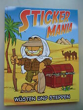 Sammelbilderalbum Sticker Mania Wüsten und Steppen