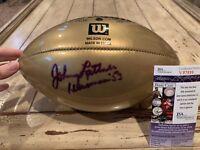 Johnny Lattner Autographed/Signed Football JSA COA Notre Dame Fighting Irish