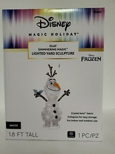 Disney Magic Holiday FROZEN OLAF Shimmering Magic LIGHTED YARD SCULPTURE NWT