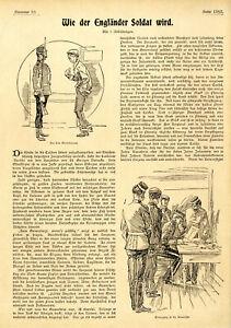 Francis P. Fischer Wie der Engländer Soldat wird Histor. Satire von 1899