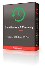 Data Restore/Recover Undelete Lost Files Data Music Photos Images Dvd/Usb/Floppy