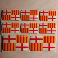 Pegatinas Barcelona España Pegatina Bandera Adhesivo Ciudad 3D Relieve Resina
